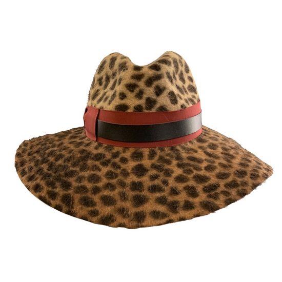 Cappello Sophie leopardato in feltro by Borsalino
