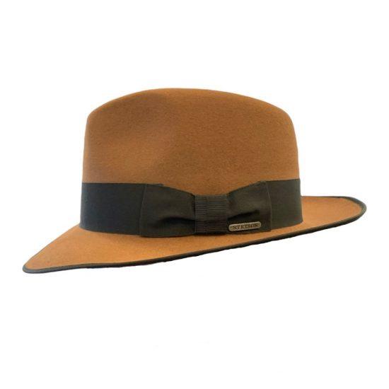 antica cappelleria troncareeli roma cappello fedora con orlatura stetson