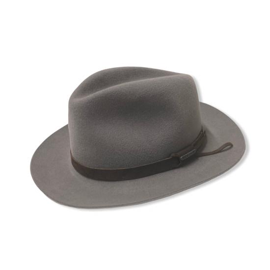 Cappello Fedora fur felt cinturino pelle by Stetson