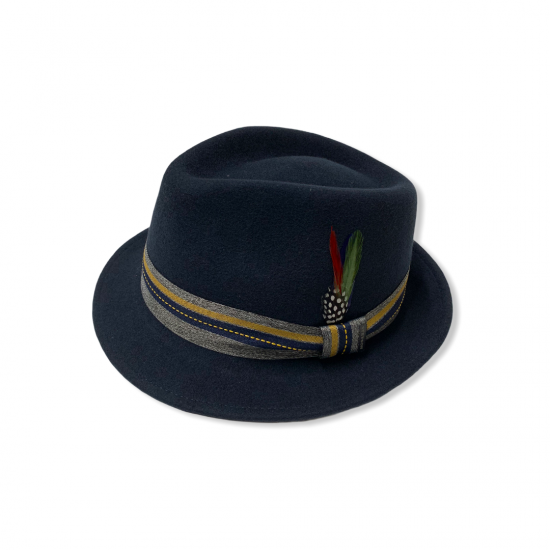 Cappello Trilby blu by Stetson