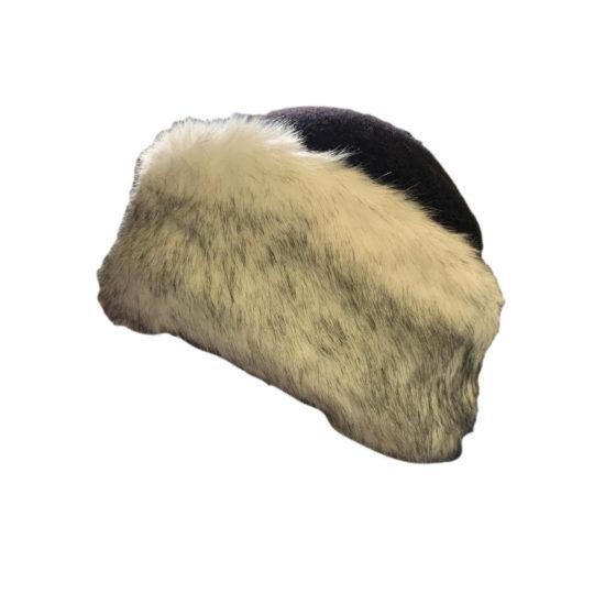 Antica Cappelleria Troncarelli - Marzi donna cappello con pelliccia ecologica lana e pelliccia eco
