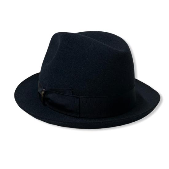 cappello trilby blu borsalino da antica cappelleria troncarelli 2