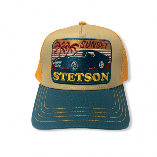 Trucker cap sun set by stetson