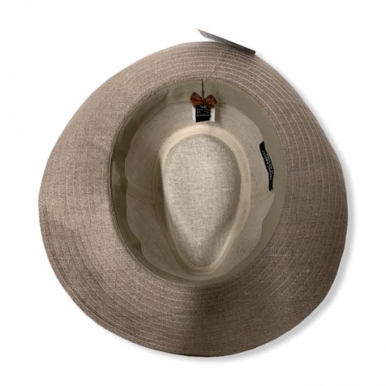 cappello lino by antica cappelleria troncarelli dall'alto