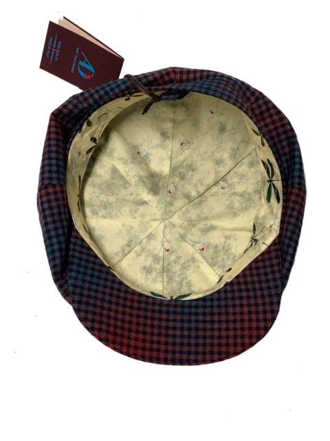 antica cappelleria troncarelli roma berretto 8 spicchi tokio 3 quadretto