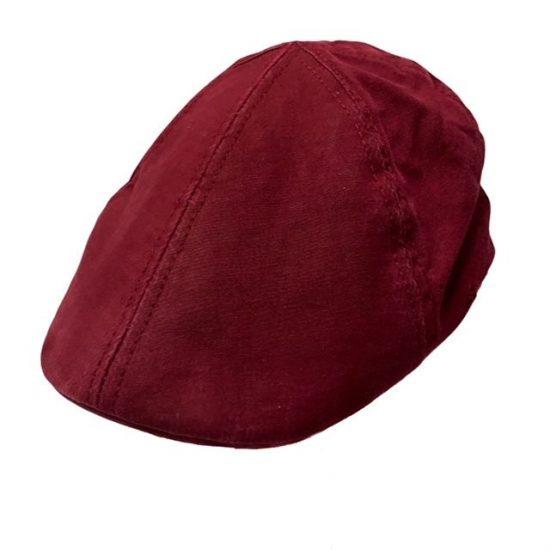 antica cappelleria troncarelli roma duck cap texas organic cotton red 1interno