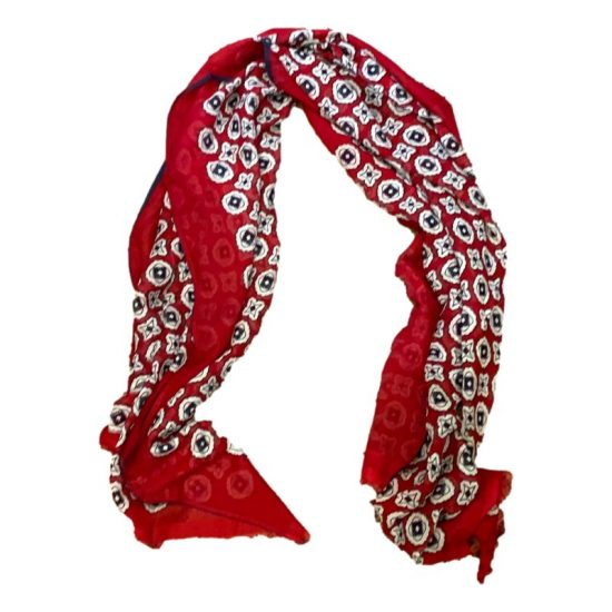 Antica Cappelleria Troncarelli Roma - Sciarpa Altea cotone e seta Rossa