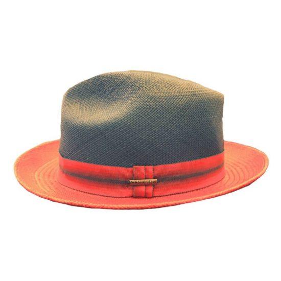 antica cappelleria troncarelli roma cappello panama bicolore stetson